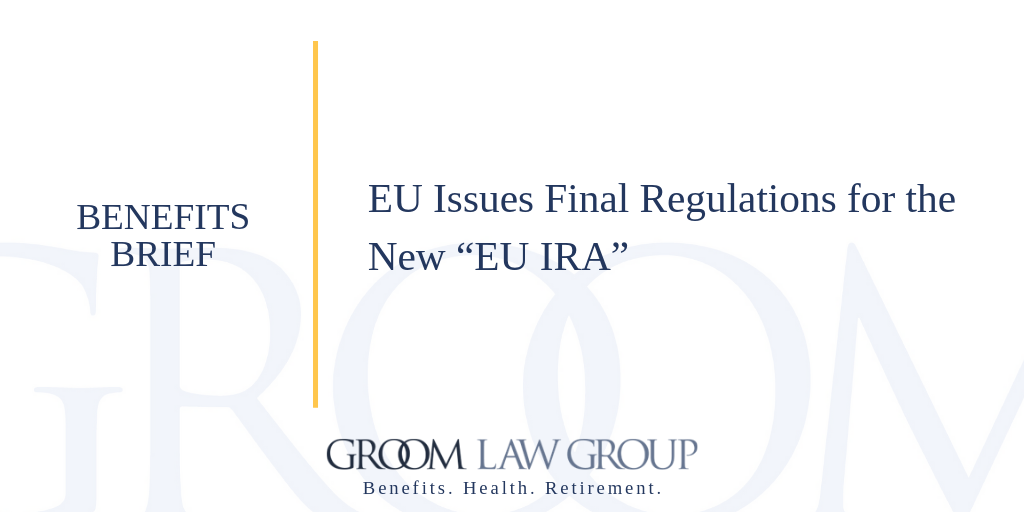 Eu Pension Authority Issues Final Regulations Linkedin Share Image 1 Groom Law Group This affects many tariffs and customs duties, but not tariff numbers. groom law group